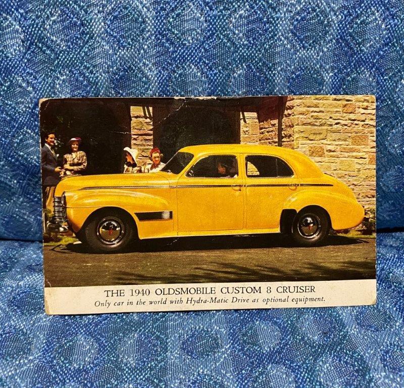1940 Oldsmobile Custom 8 Cruiser Original Factory / Dealer Postcard