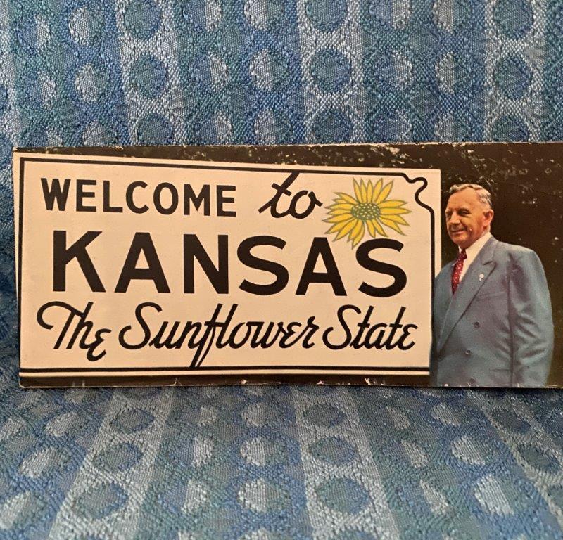 1950-1951 Kansas Official State Road Map - Original