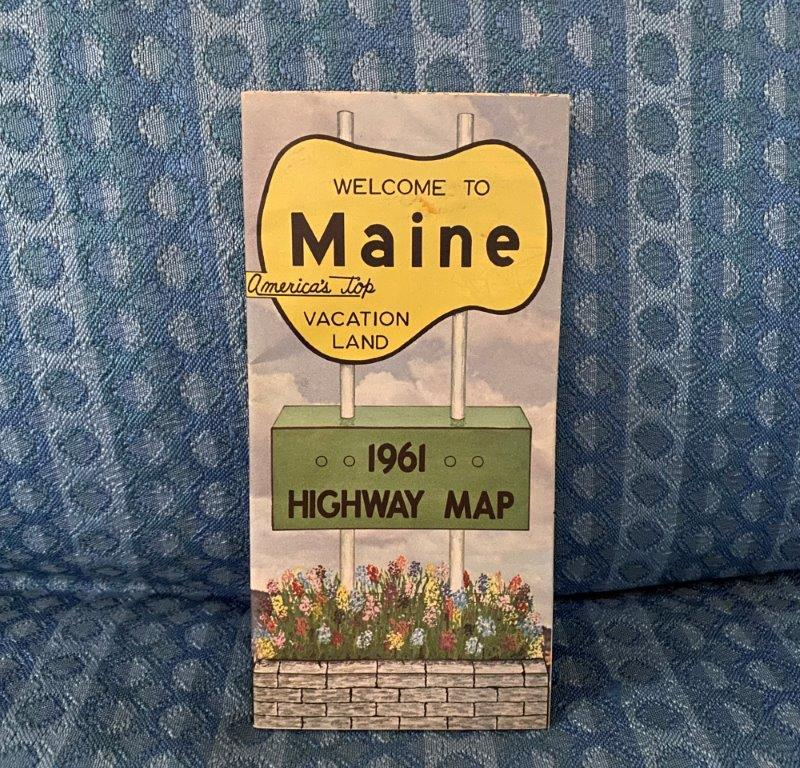 1961 Maine Official State Highway Road Map - Original