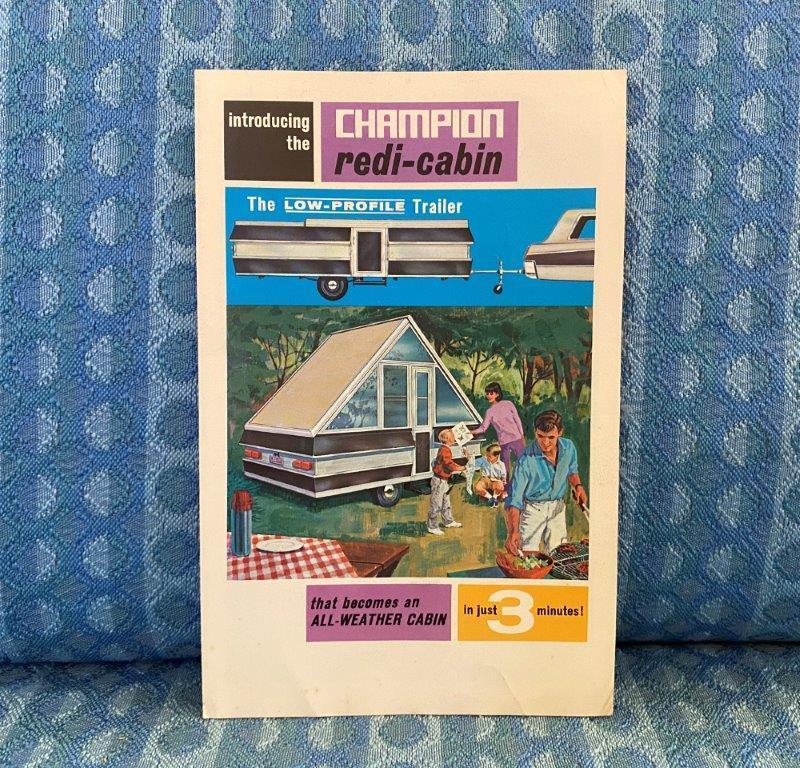 1966 Champion Redi-Cabin Pop-Up Camper Original Sales Brochure