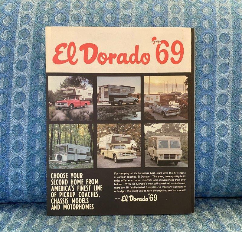 1969 El Dorado Pickup Camper & Motorhome Original Sales Brochure GM Ford Dodge
