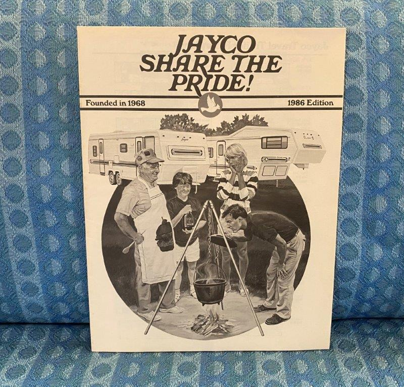 "1986 Jayco & ""J"" 5th Wheels, Travel Trailer, Camper Original Floorplan Brochure"