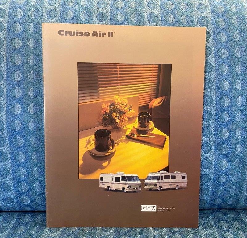 1988 Cruise Air II Motorhome by Georgie Boy Original Sales Brochure