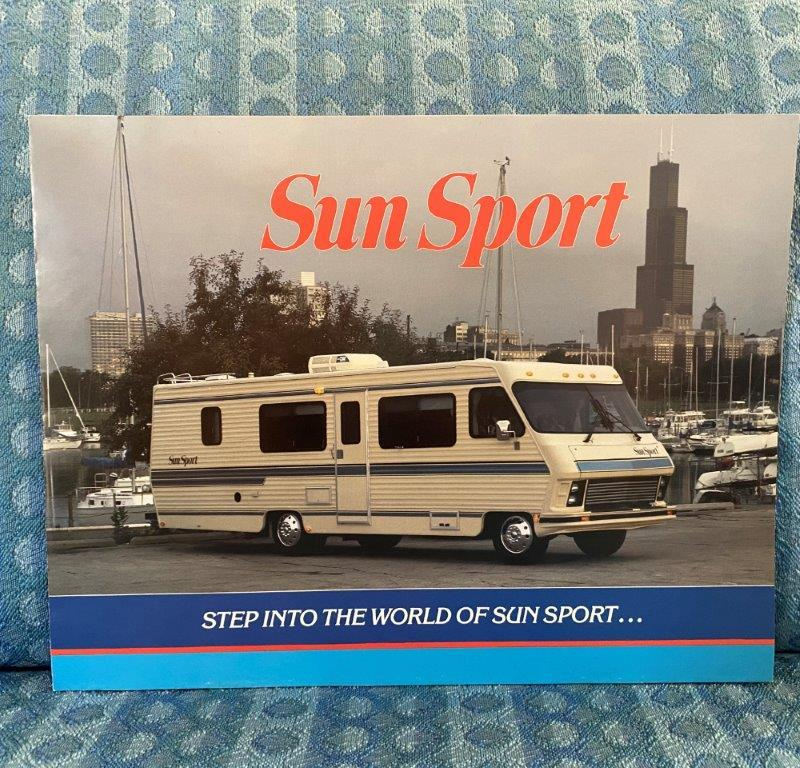 1988 Sun Sport Motorhome by Gulf Stream Original Sales Brochure