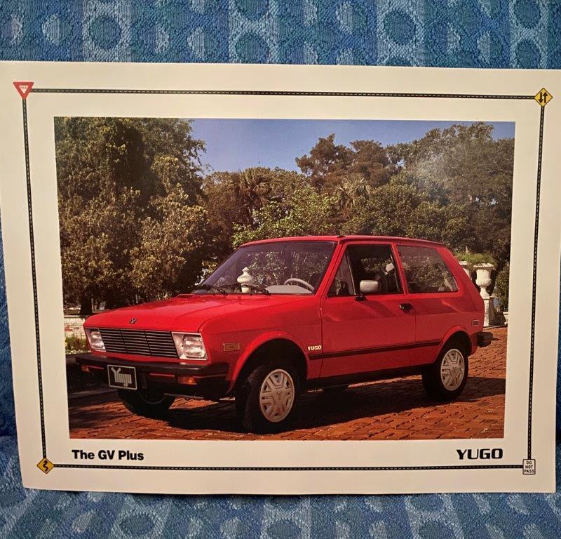 1991 Yugo GV Plus Original Sales Sheet