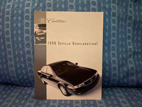 1998 Cadillac Seville, STS, SLS Original Exhilaration Sales Brochure