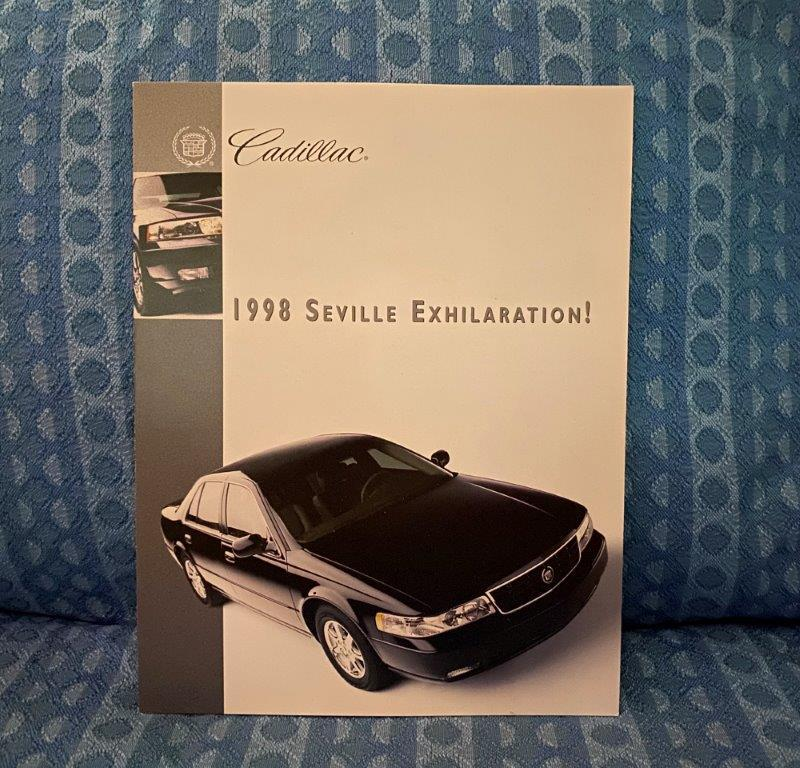 1998 Cadillac Seville, STS, SLS Original Exhilaration Sales Brochure