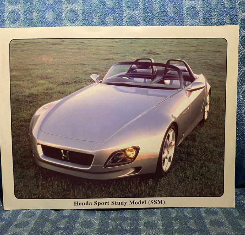 Original Fact Sheet for Honda Concept Vehicle Sports Study Vehicle (SSM)