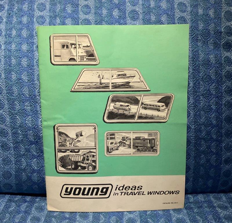1968 Young Travel Windows Original Sales Catalog, RV's, Van's, Trucks, Boats