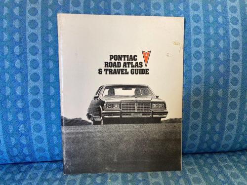 1977 Pontiac Original Road Atlas & Travel Guide Trans AM Catalina GP Catalina