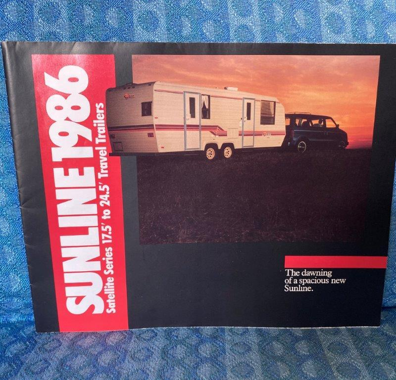 1986 Sunline Travel Trailer Satellite Series 17.5'-24.5' Original Sale Brochure