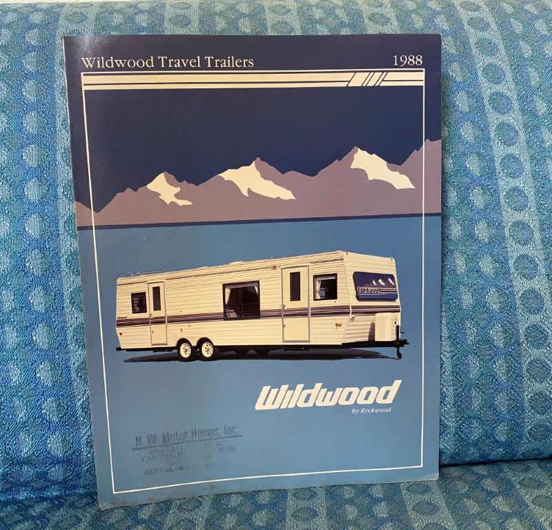 1988 Wildwood Travel Trailer Original Color Sales Brochure