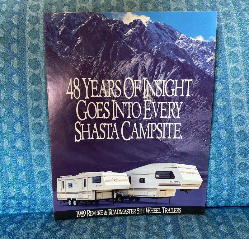 1989 Shasta Revere & Roadmaster 5th Wheel Trailer Original Sales Brochure