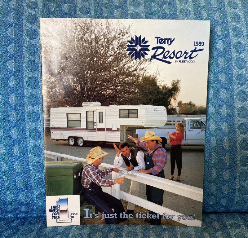 1989 Terry Resort Travel Trailer & 5th Wheel Original Sales Brochure