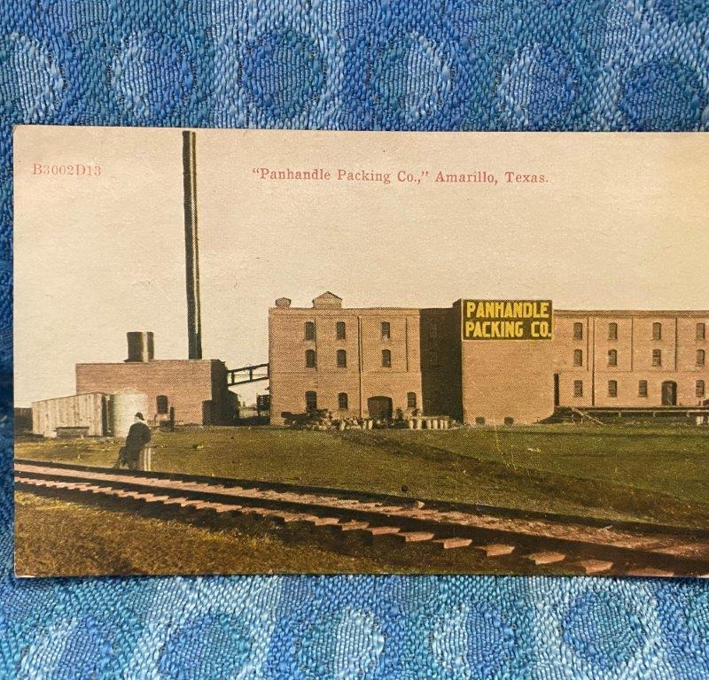 Circa 1910 Panhandle Packing Co. Amarillo Texas Original Color Photo Postcard