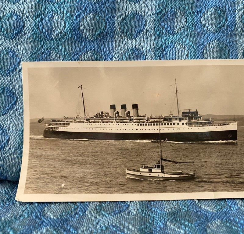 C 1930 Original Professional Photo SS Princess Elizabeth Canadian Railway Ship