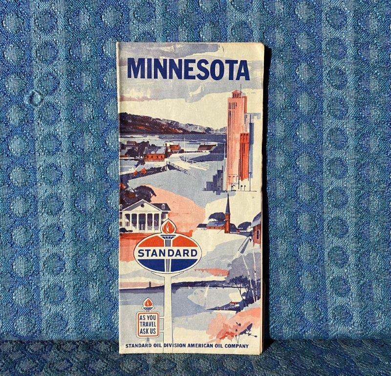 1960 Minnesota Standard / American Oil Co. Original Road Map