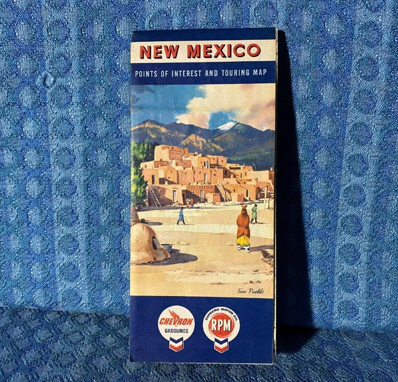 1961 New Mexico Chevron RPM Original Road & Touring Map with Points of Interest