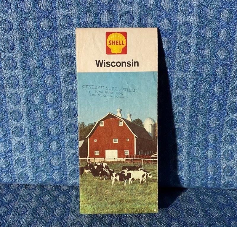 1964 Shell Oil Co. Wisconson Original Road Map