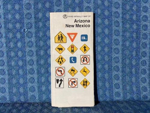 1970 Arizona & New Mexico Rand McNally Road Map