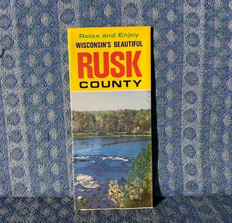C. 1970 Rusk County Wisconsin Original Pictorial Map