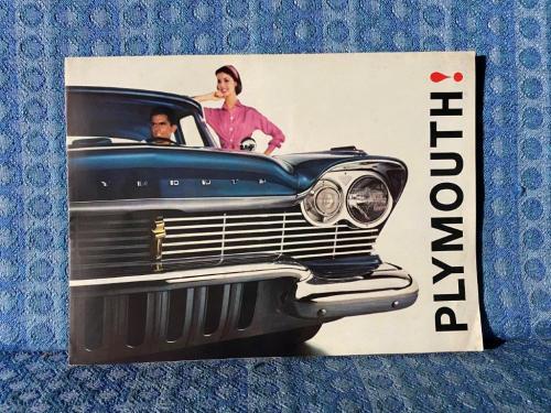 1960 Plymouth Original Sales Brochure / Poster Belvedere Savoy Plaza Suburban