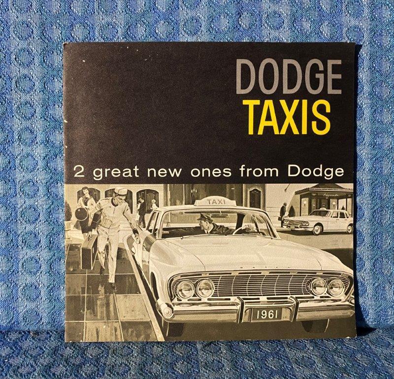 1961 Dodge Taxi Original Sales Brochure / Catalog Full Size & Compact Models