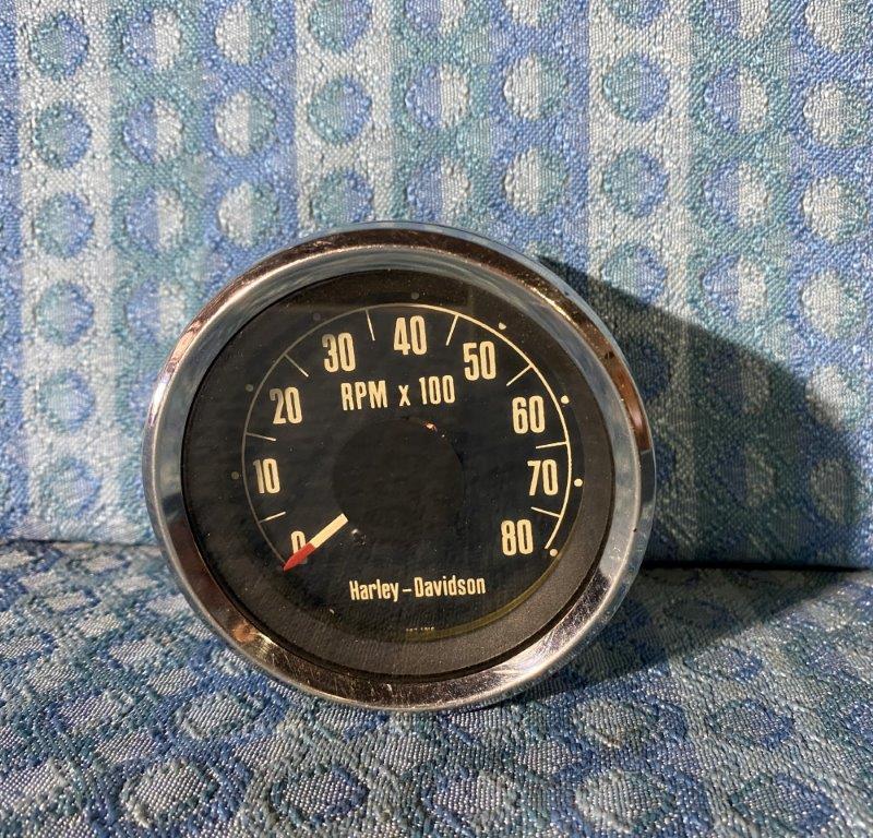 Harley-Davidson Motorcycle Chrome 80 MPH Original Electronic Speedometer