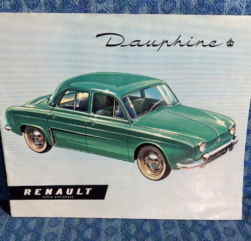 1956 Renault Dauphine Original Large Color Sales Brochure U.S. & Canadian Market