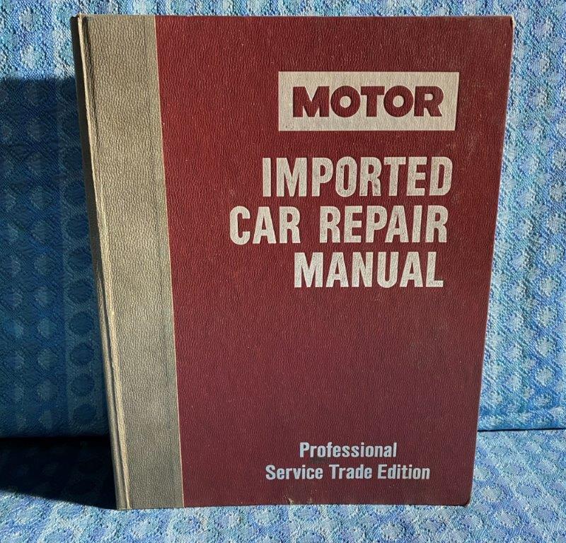 1980-1986 Motor Import Car Repair Manual Jaguar Renault BMW Audi Volvo VW Toyota