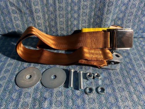 Chrome Lift Latch 74 Inch Copper Color Seat Belt (LAP) GM Ford Mopar