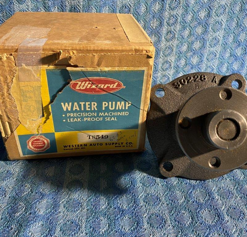 1957-1959 Dodge & Plymouth 6 Cly NORS Water Pump 1956