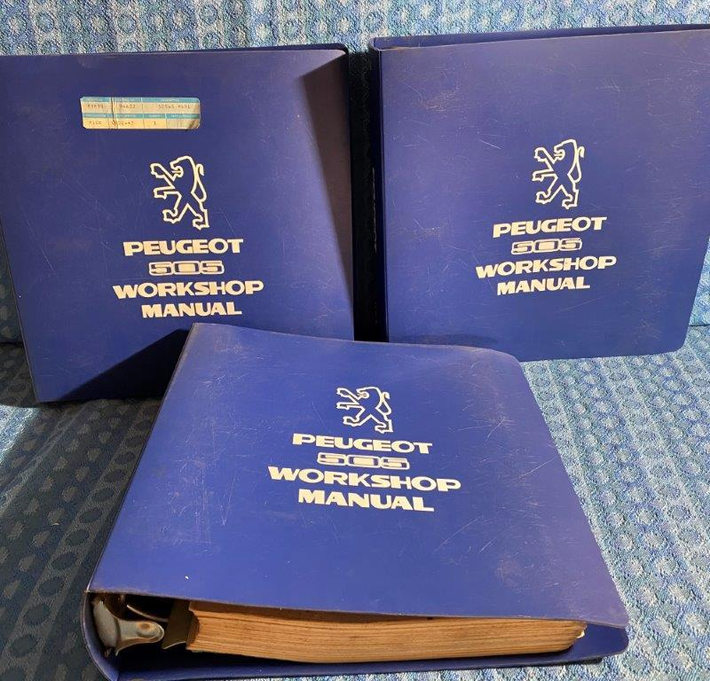 Peugeot 505 Original Factory Workshop Manuals 3 Volume Set 1982 Printing U.S. Ed