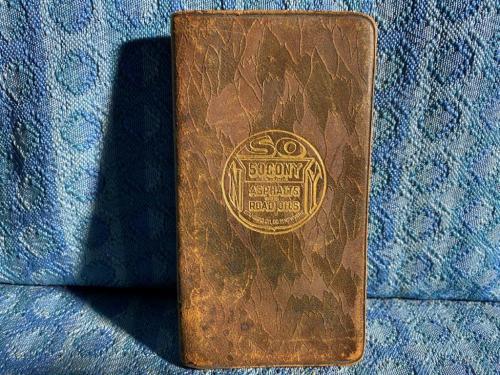 1929-1930 SOCONY Standard Oil Co Asphalts & Road Oils Original Personal Notebook