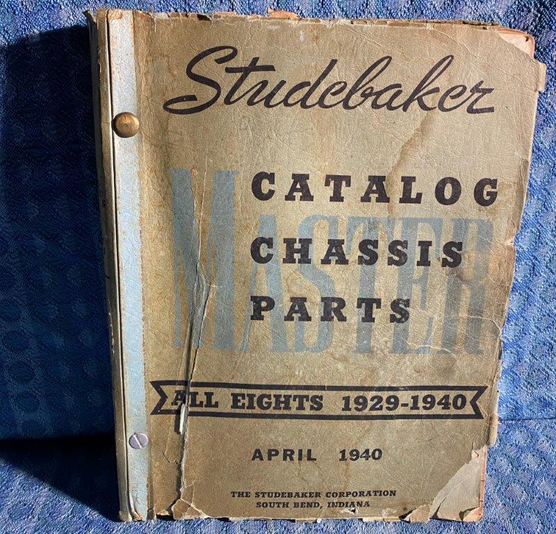 1929-1940 Studebaker 8 cyl Original Master Chassis Parts Catalog 31 33 35 37 39