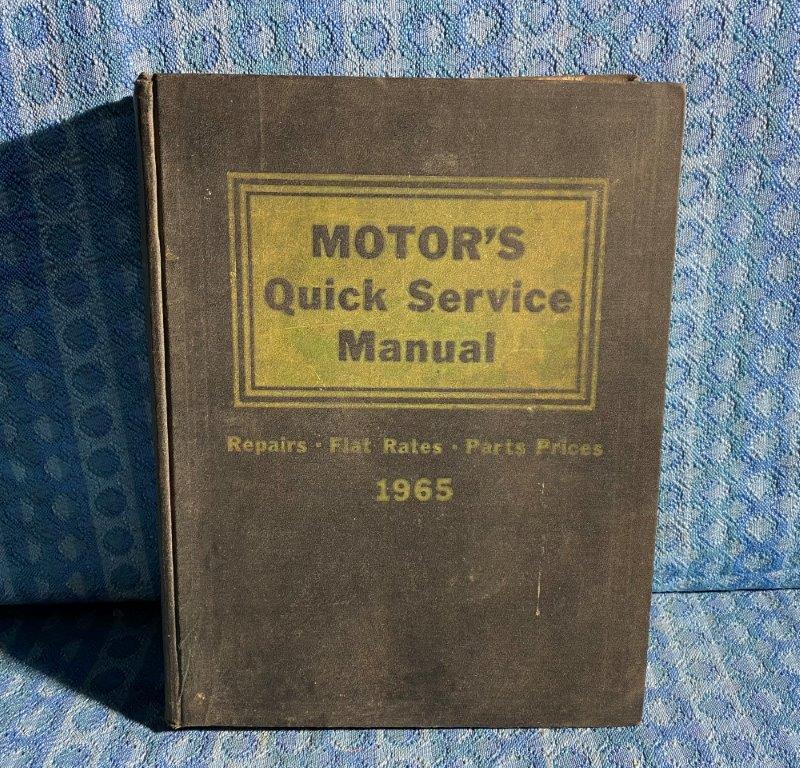 1958-1965 Motor's Quick Service Manual GM Ford Chrysler AMC Studebaker VW Jeep