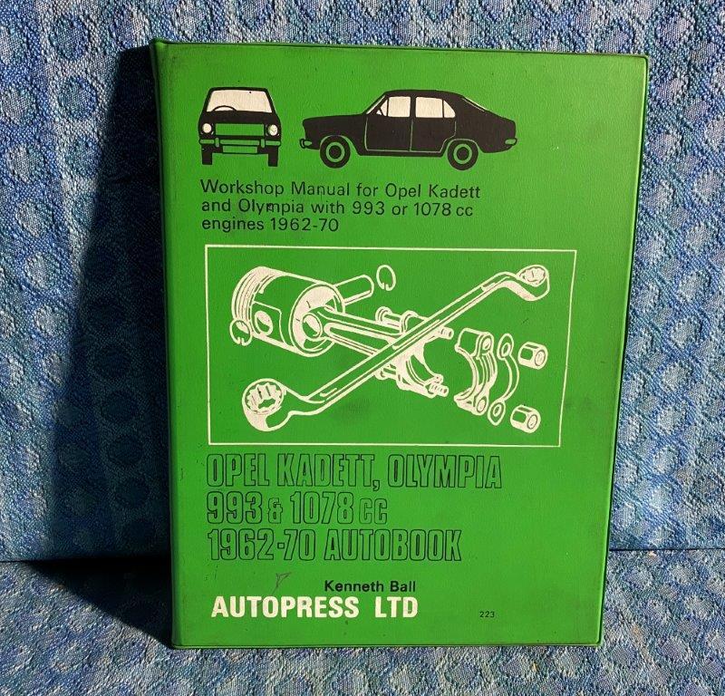1962-1970 Opel Kadett & Olympia Autopress Workshop Manual By Ball 64 65 66 67 68