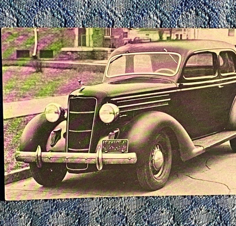 1935 Dodge 2-Door Original Dealer Postcard, Ernest T. Fredette, Gardner MA