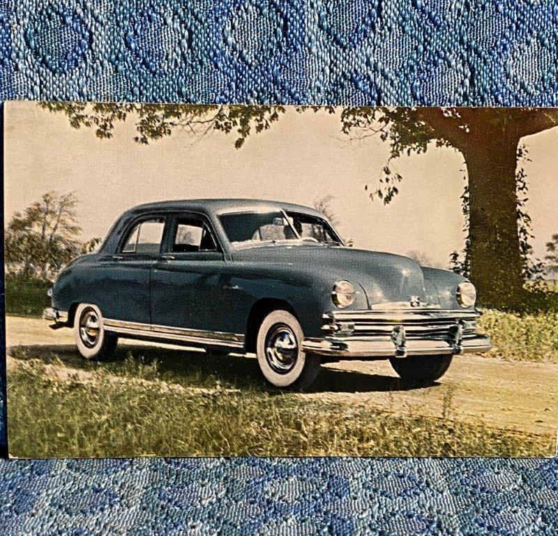 1949 Kaiser DeLuxe NOS Factory / Dealer Postcard