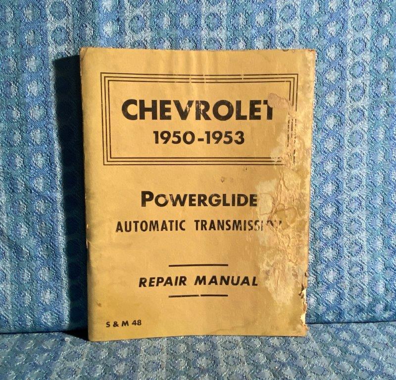 1950-1953 Chevrolet Powerglide Transmission Shop / Repair Manual 1951 1952
