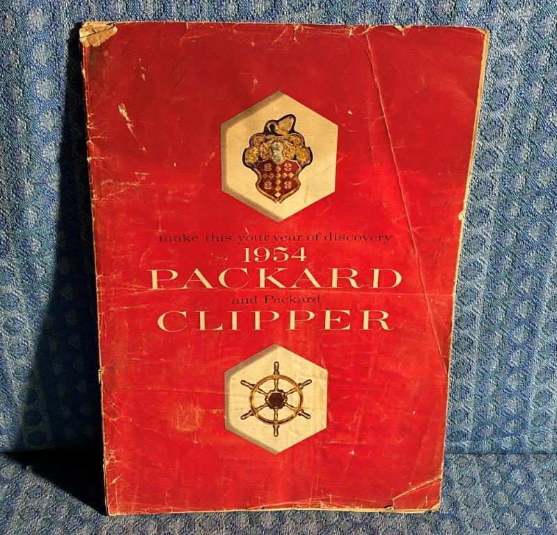 1954 Packard & Clipper Original Large DeLuxe Sales Brochure