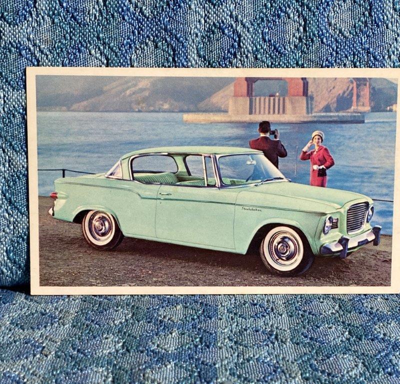 1959 Studebaker Lark 2 Door Hardtop NOS Factory / Dealer Postcard