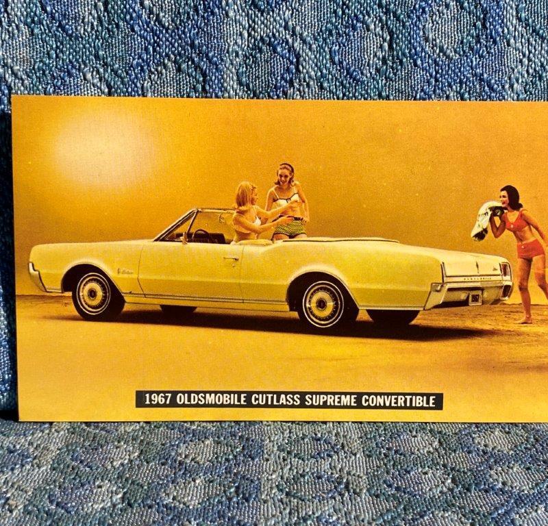 1967 Oldsmobile Cutlass Supreme Convertible NOS Factory / Dealer Postcard
