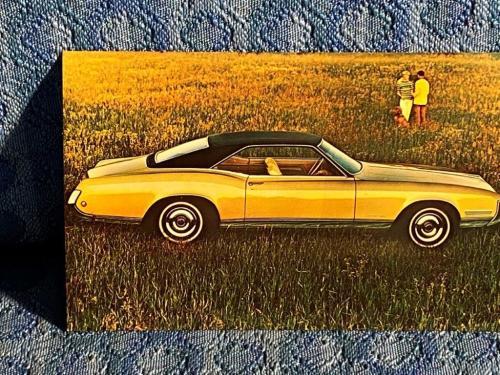 1968 Buick Riviera Sport Coupe NOS Factory/Dealer Postcard Sherer Buick Pekin IL