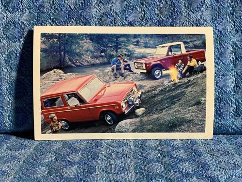 1971 Ford Bronco NOS Factory / Dealer Advertising Postcard