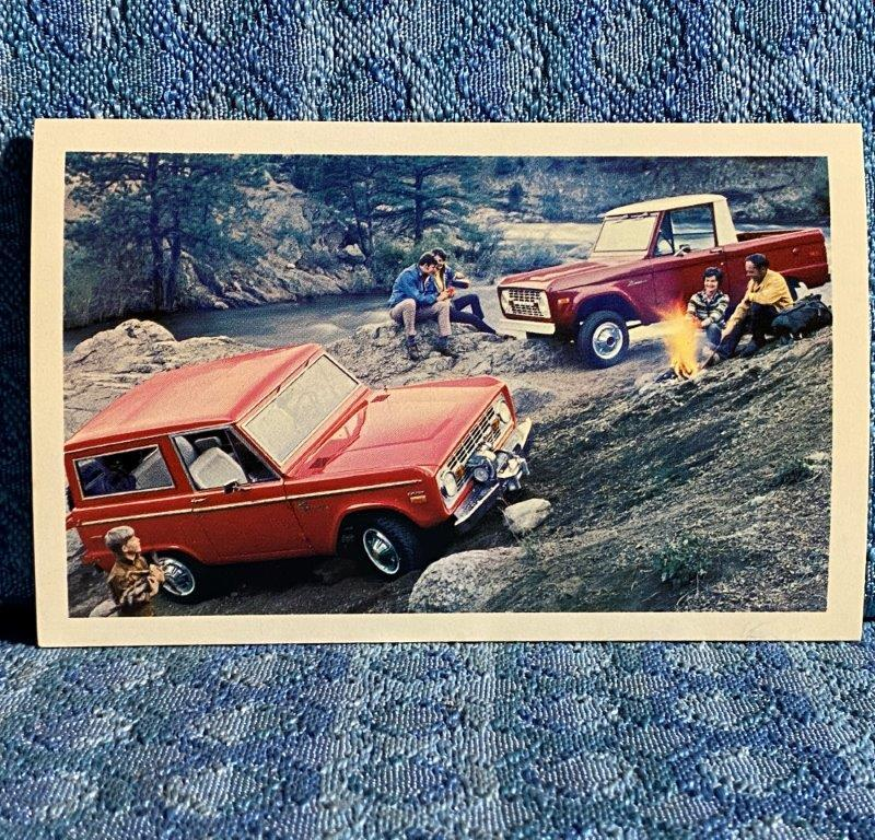 1971 Ford Bronco NOS Factory / Dealer Advertising Postcard