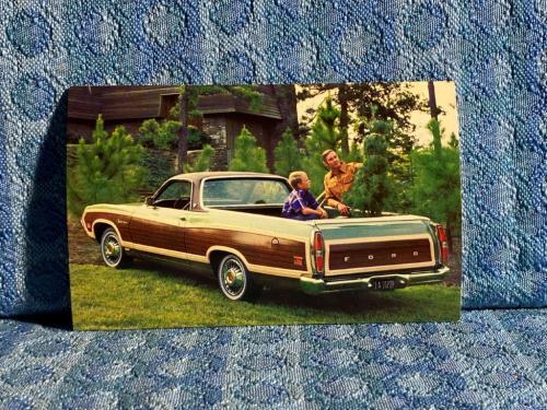 1971 Ford Ranchero Squire NOS Factory / Dealer Advertising Postcard