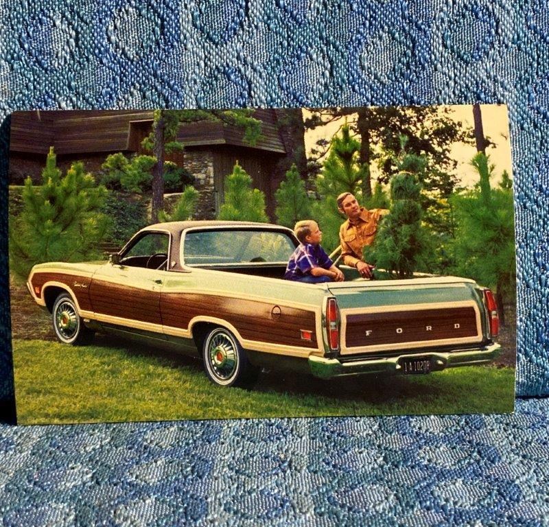 1971 Ford Ranchero Squire NOS Factory / Dealer Advertising Postcard