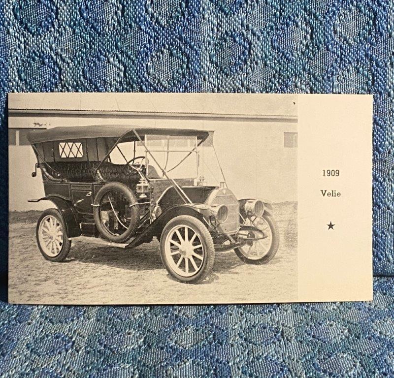 1909 Velie 1968 Postcard Kelsey's Antique Car Museum Albert Lea MN