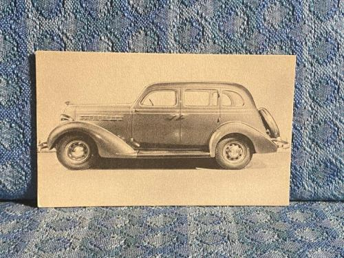 1935 Plymouth 4 Door Sedan Postcard